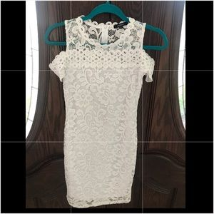 Ambiance Dresses - Woman's white sleeveless dress